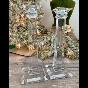 Tiffany & Co. Pair of Classic Crystal Candlesticks
